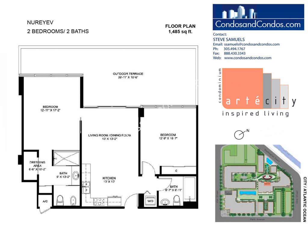 Artecity - Unit #Nureyev with 1485 SF
