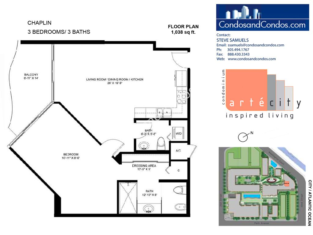 Artecity - Unit #Chaplin with 1038 SF