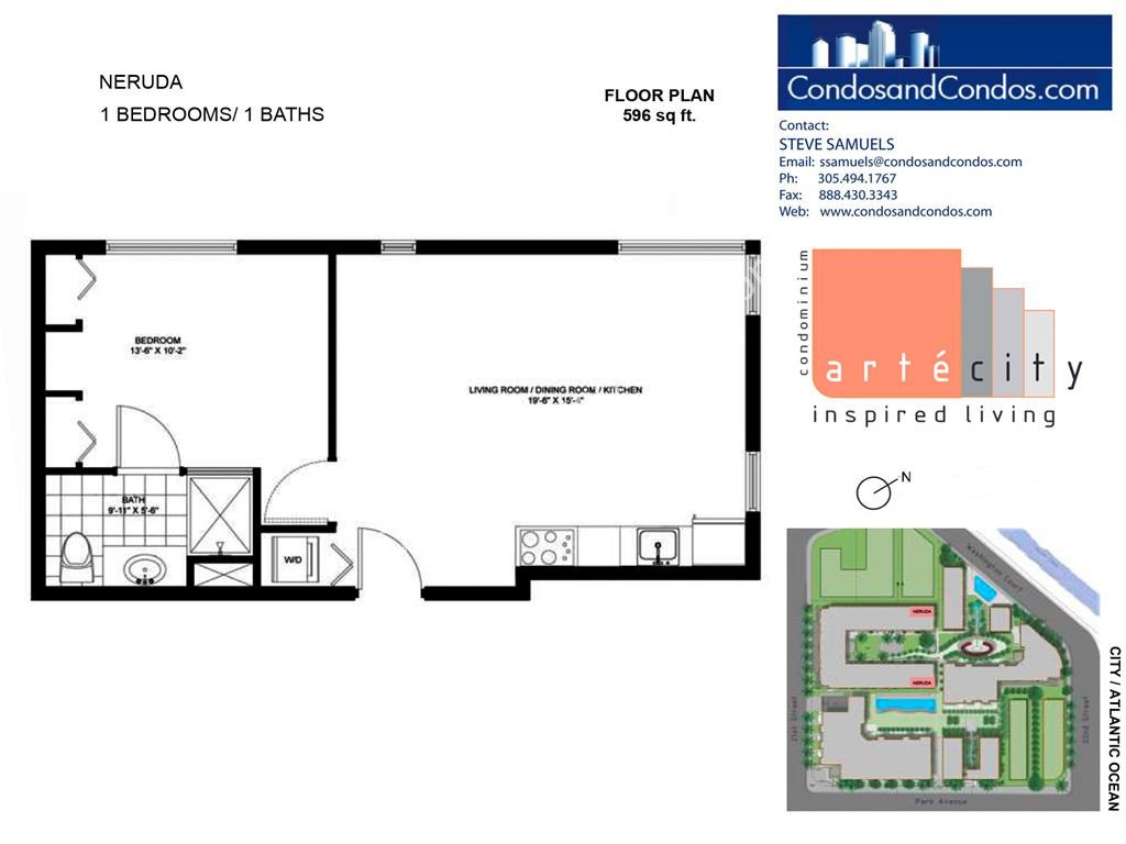 Artecity - Unit #Neruda with 596 SF