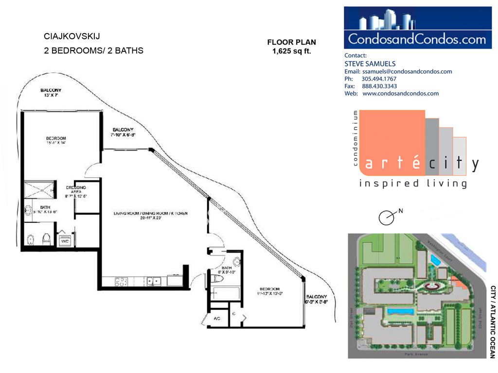 Artecity - Unit #Ciajkovskij with 1625 SF