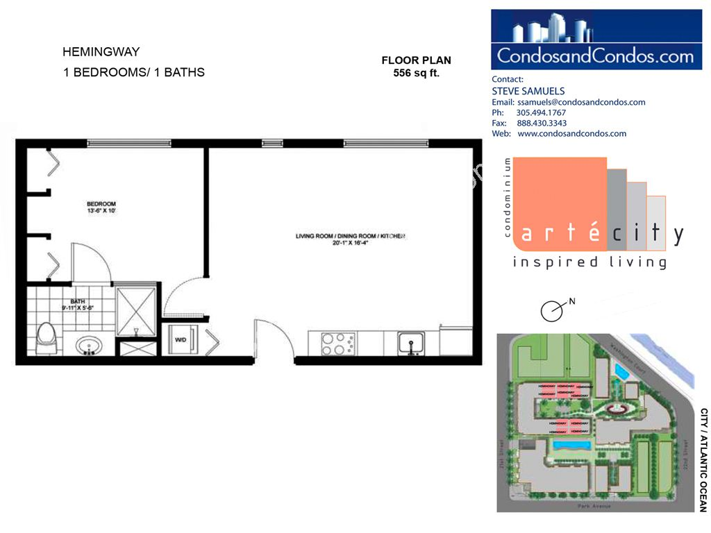 Artecity - Unit #Hemingway with 556 SF