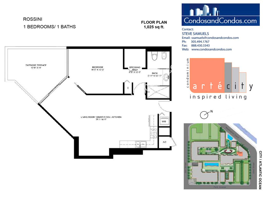 Artecity - Unit #Rossini with 1025 SF