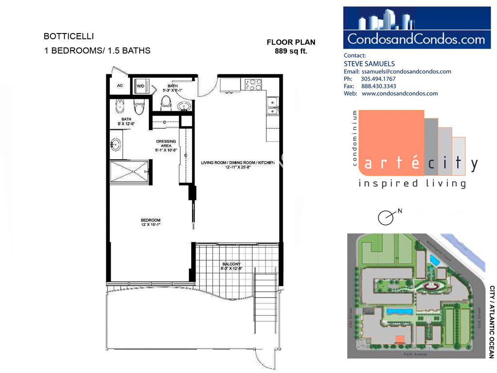 Artecity - Unit #Botticelli with 889 SF
