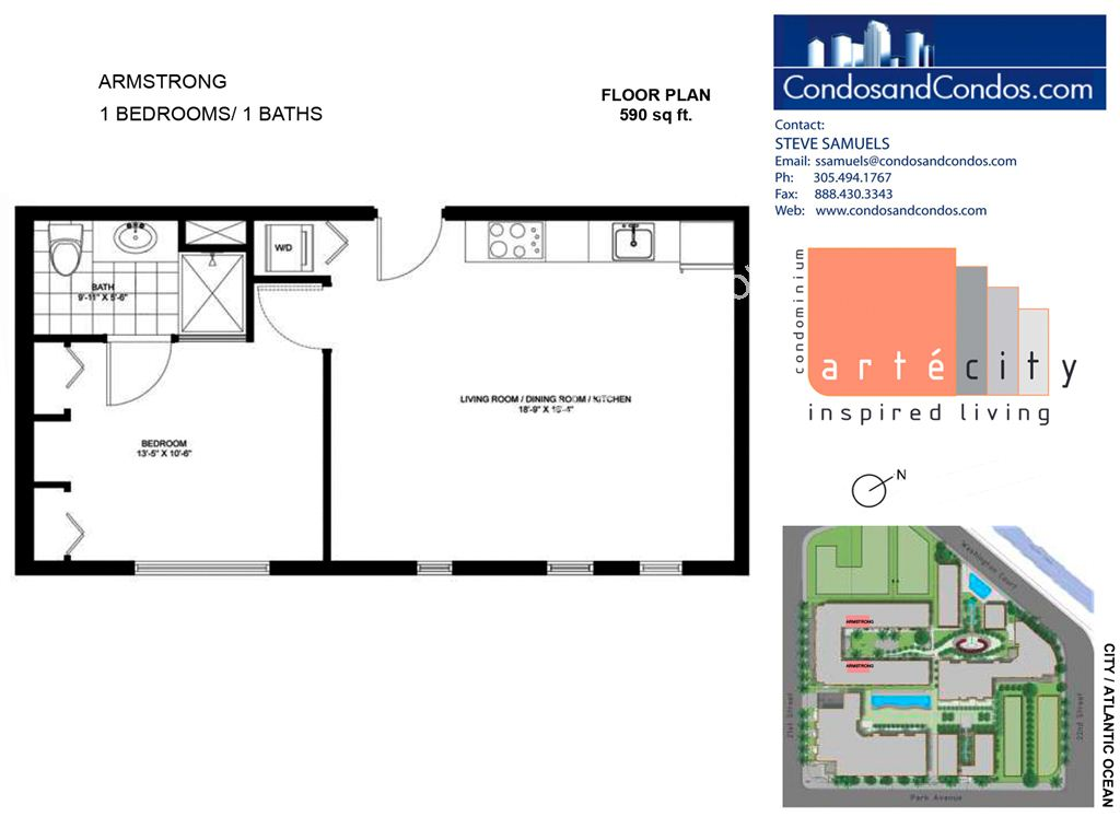 Artecity - Unit #Armstrong with 590 SF