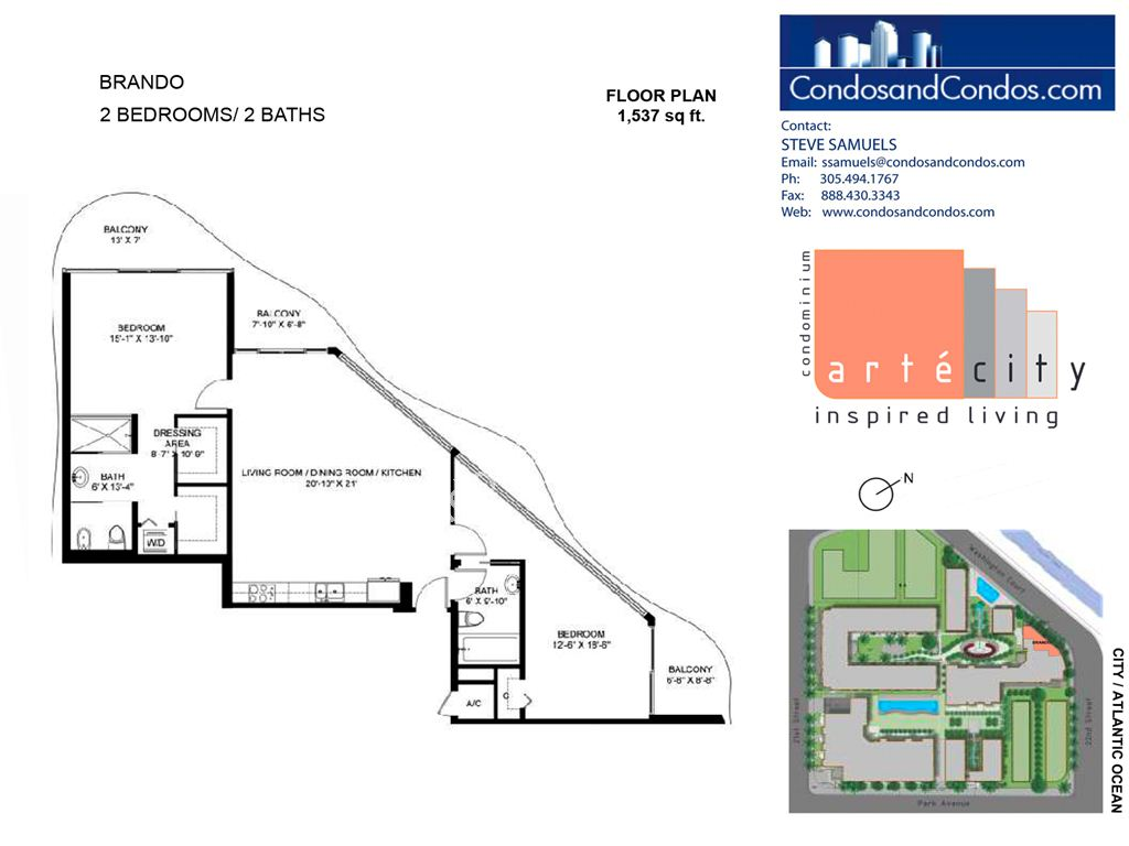 Artecity - Unit #Brando with 1537 SF