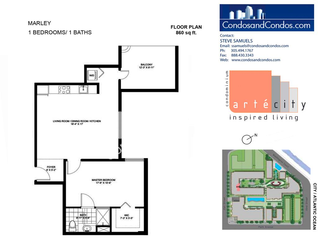 Artecity - Unit #Marley with 860 SF