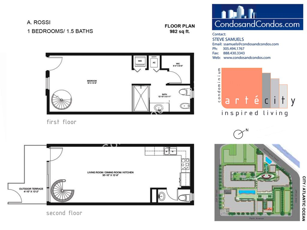 Artecity - Unit #A. Rossi with 982 SF