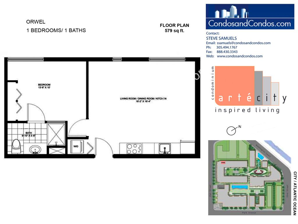Artecity - Unit #Orwel with 579 SF