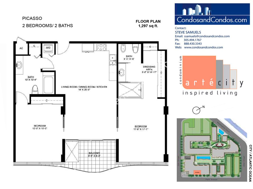 Artecity - Unit #Picasso with 1297 SF