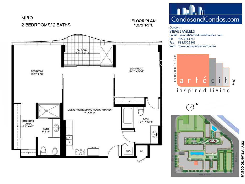Artecity - Unit #Miro with 1272 SF