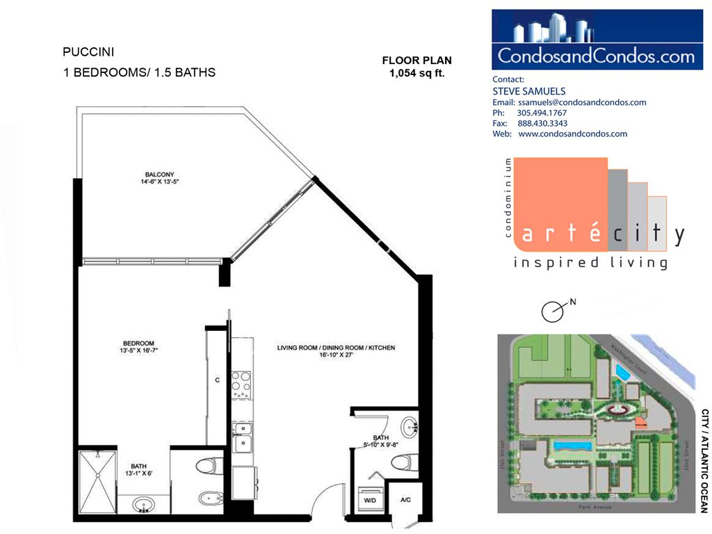 Artecity - Unit #Puccini with 1054 SF