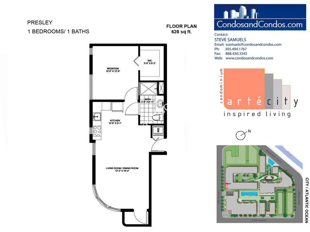 Artecity - Unit #Presley with 628 SF