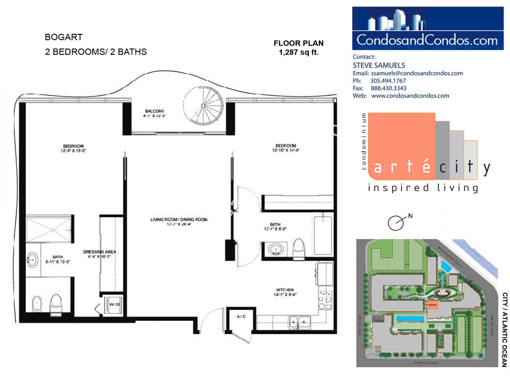 Artecity - Unit #Bogart with 1287 SF