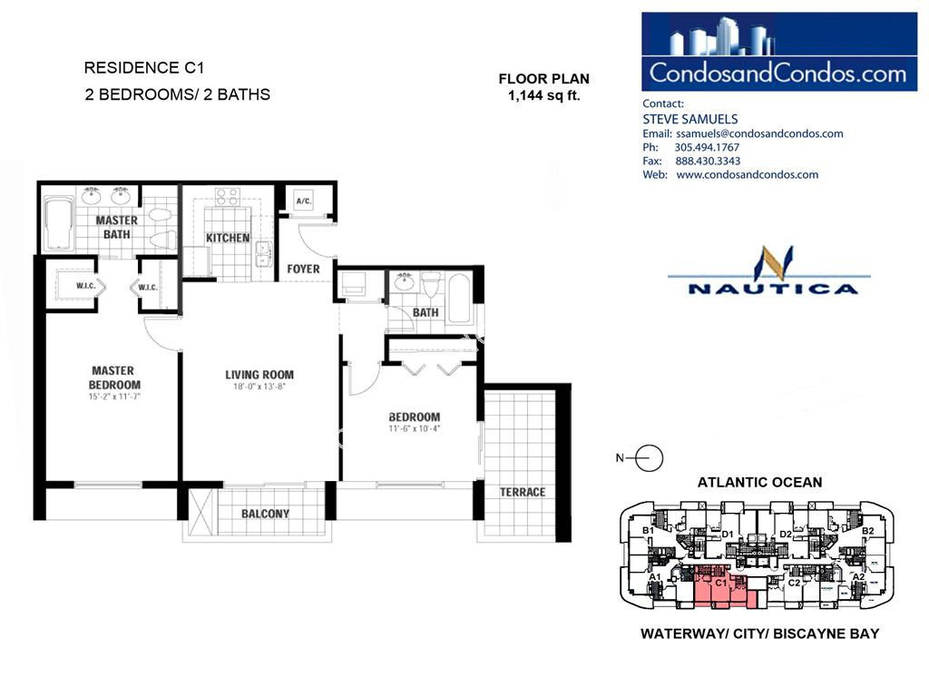 Nautica - Unit #C1-06 with 1144 SF