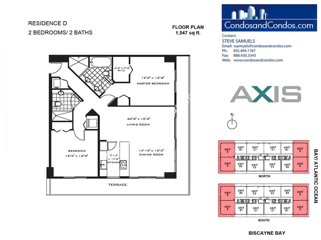 Axis Brickell - Unit #D with 1547 SF