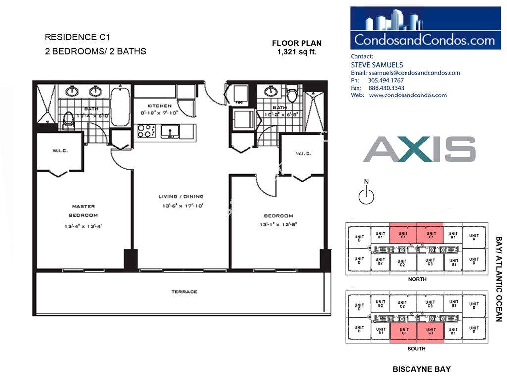 Axis Brickell - Unit #C1 with 1321 SF