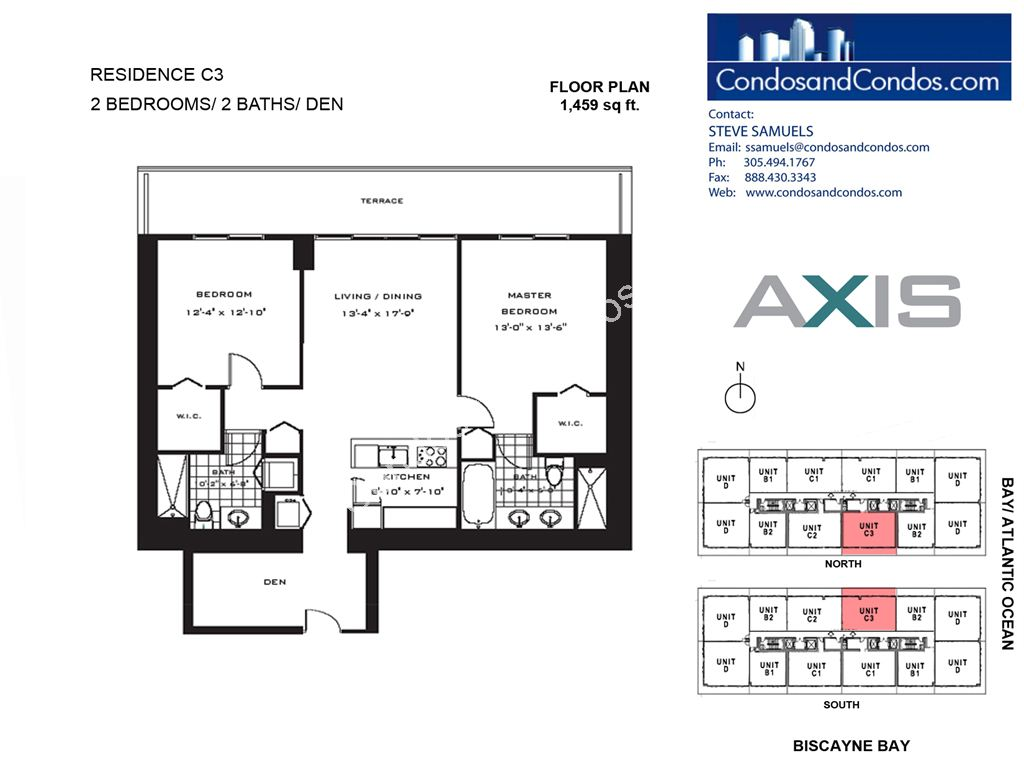 Axis Brickell - Unit #C3 with 1459 SF