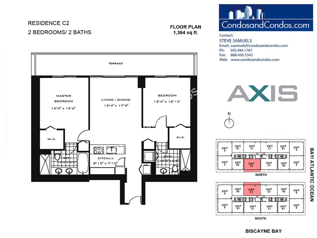 Axis Brickell - Unit #C2 with 1364 SF