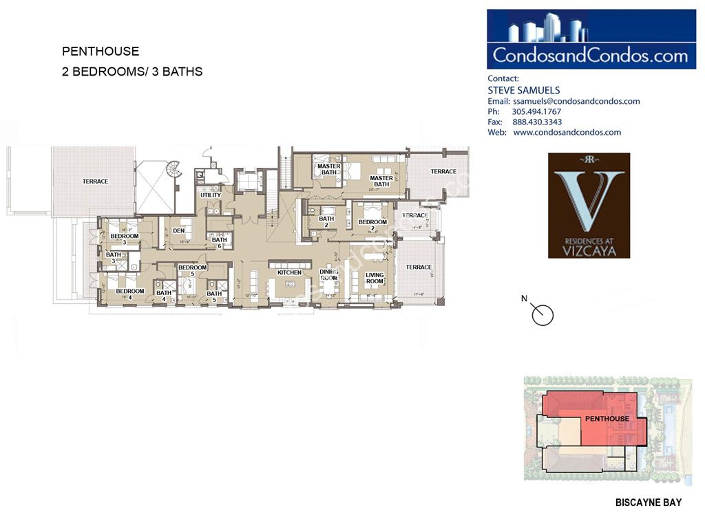 Residences at Vizcaya - Unit #Penthouse with 10298 SF