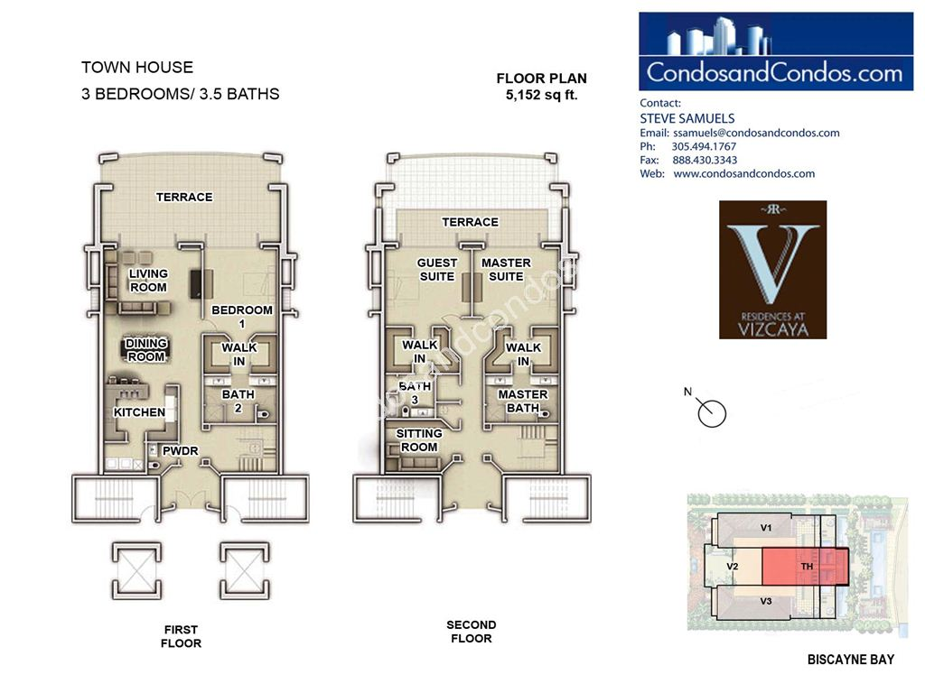 Residences at Vizcaya - Unit #Townhouse with 5152 SF