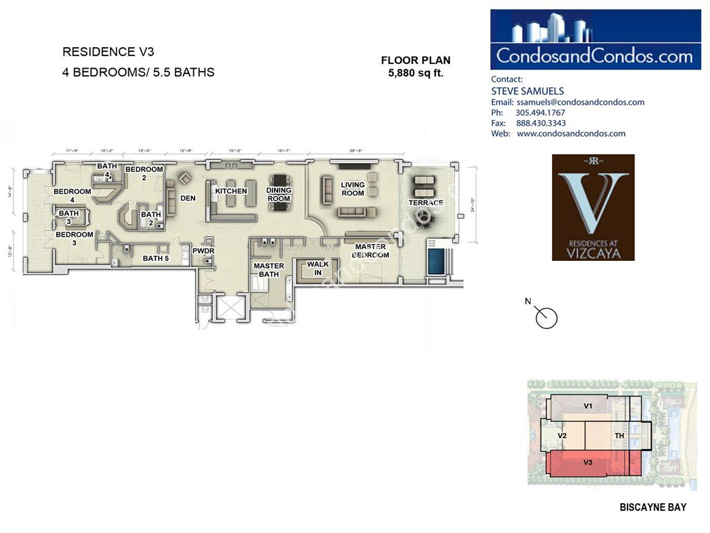 Residences at Vizcaya - Unit #03 with 5880 SF