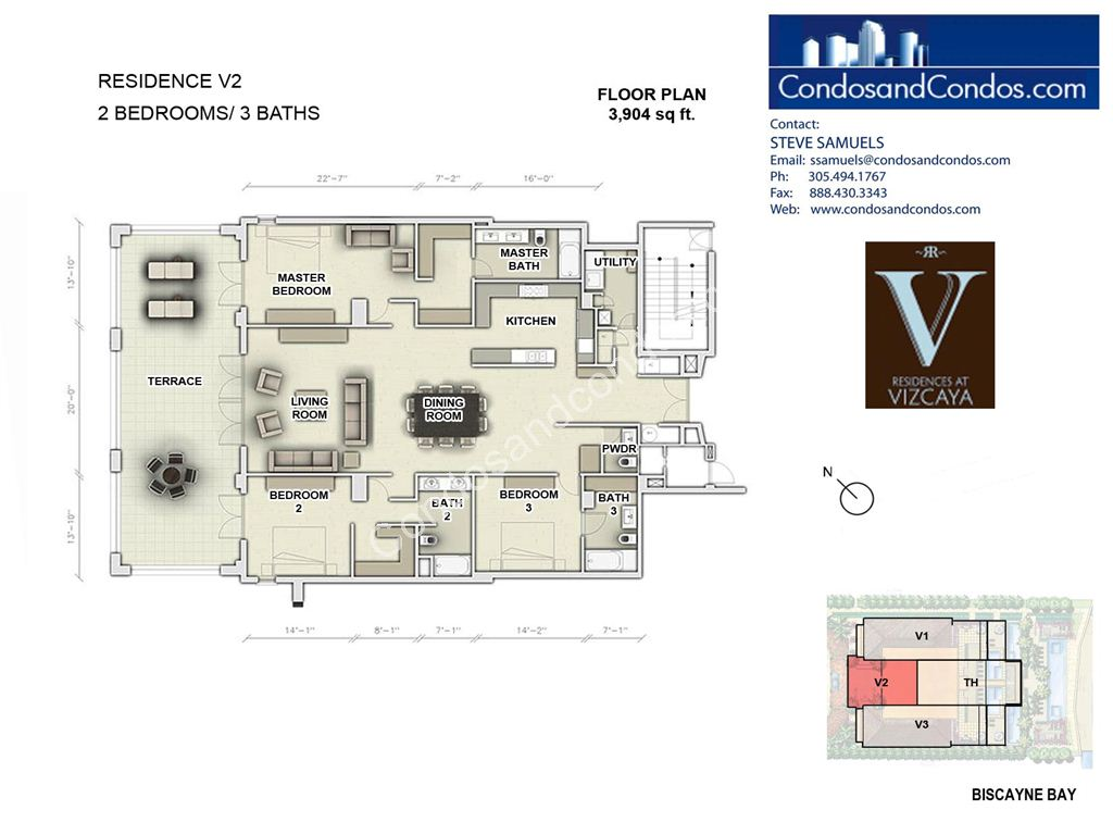 Residences at Vizcaya - Unit #02 with 3904 SF