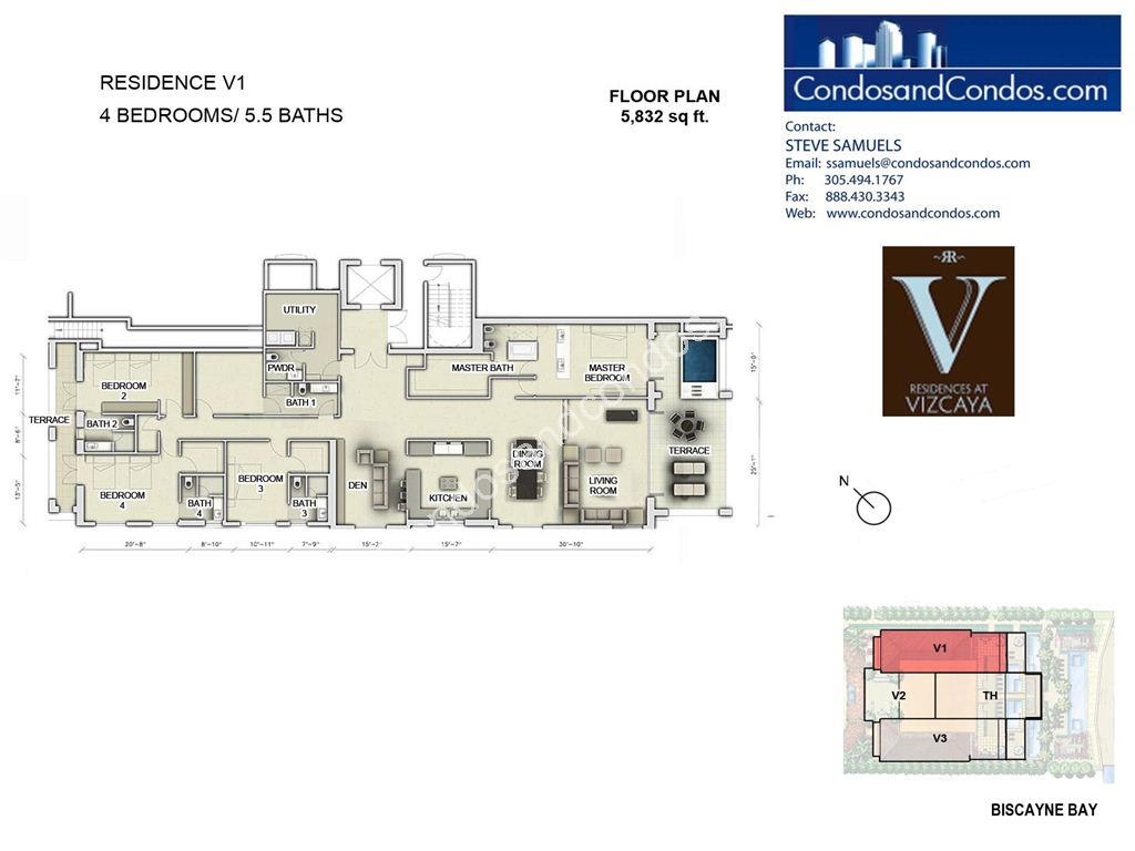 Residences at Vizcaya - Unit #01 with 5832 SF