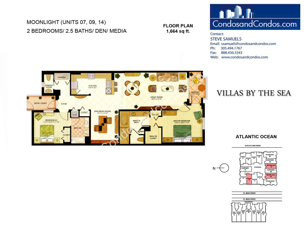 Villas by the Sea - Unit #Moon Light with 1664 SF