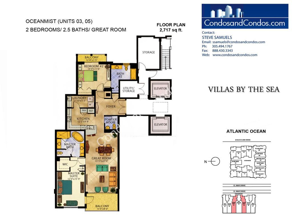 Villas by the Sea - Unit #Ocean Mist with 2717 SF