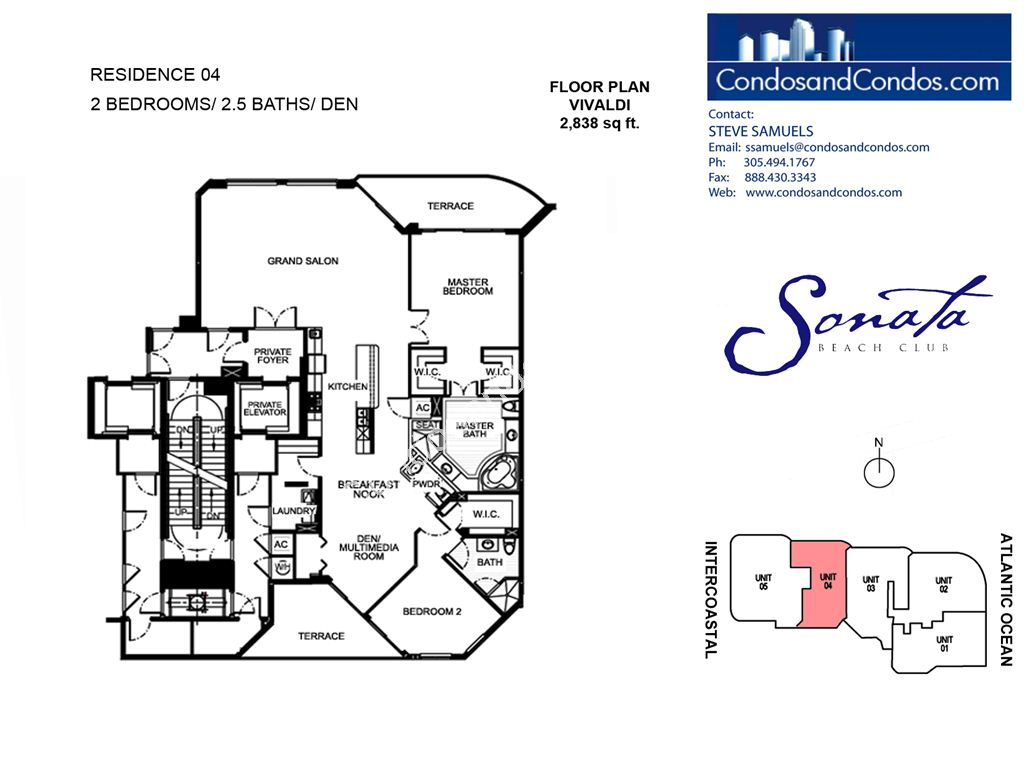 Sonata Beach Club - Unit #04 with 2838 SF