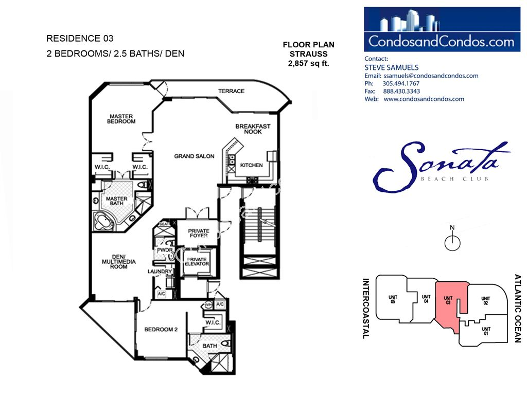 Sonata Beach Club - Unit #03 with 2857 SF