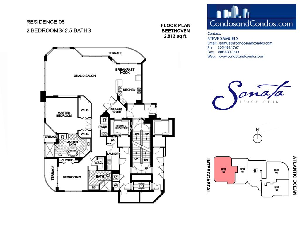 Sonata Beach Club - Unit #05 with 2813 SF