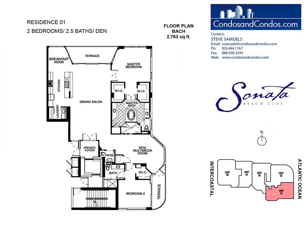 Sonata Beach Club - Unit #01 with 2763 SF