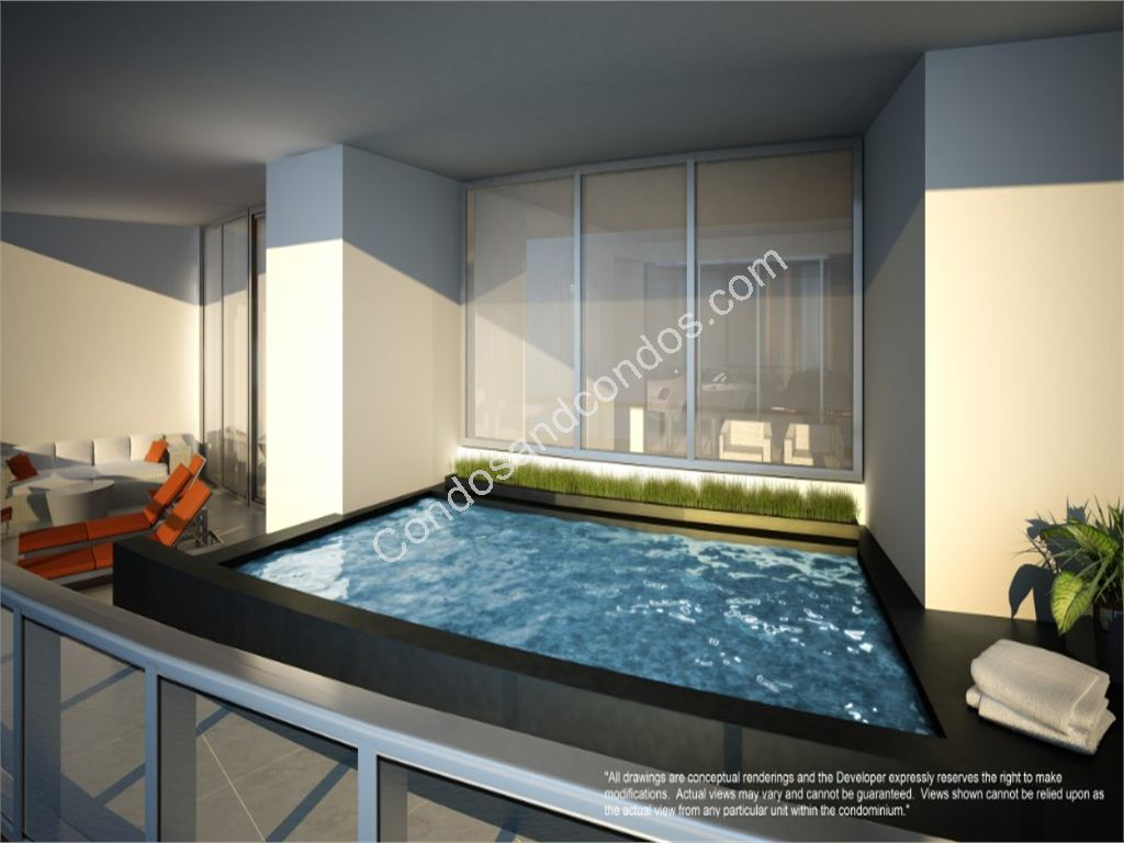 Plunge Pool on Private Terraces ranging from 800 to over 1,600 sq. feet