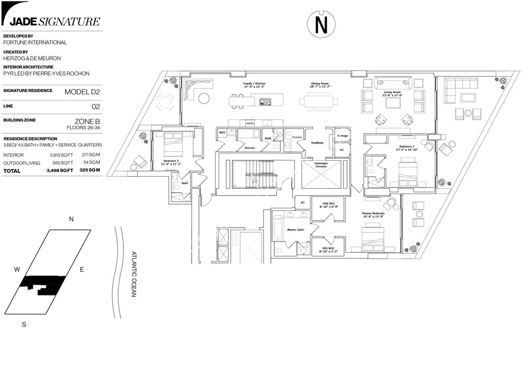 Jade Signature - Unit #D2-02     Floors 26-34 with 2913 SF