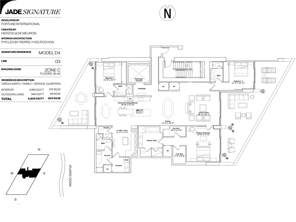Jade Signature - Unit #D4-03     Floors 35-42 with 2963 SF