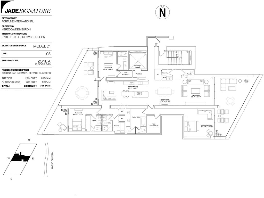 Jade Signature - Unit #D1-03      Floors 5-25 with 2931  SF