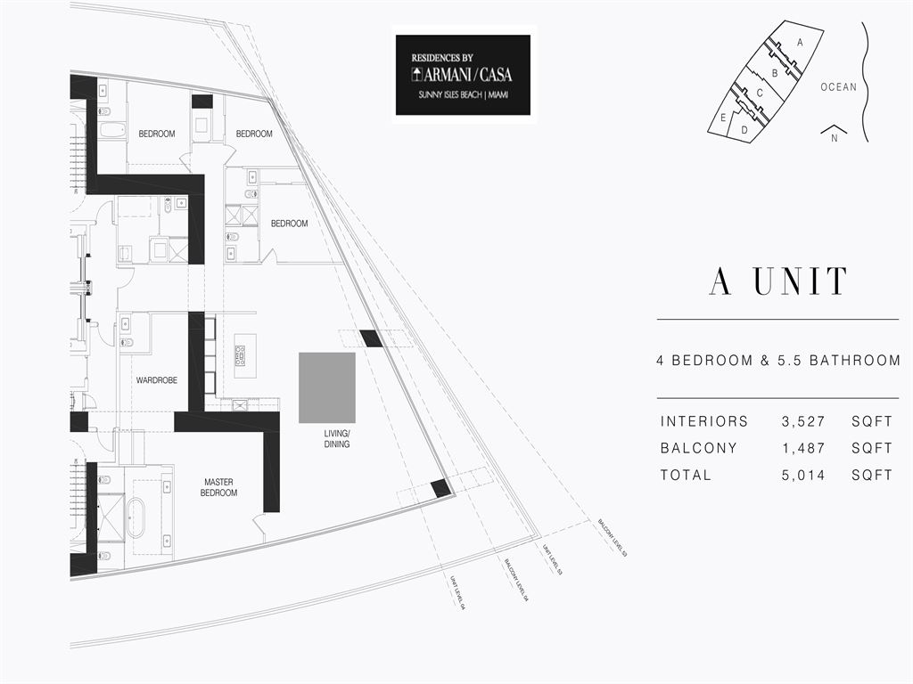 Armani Residences - Unit #A - Level 28 with 3527 SF