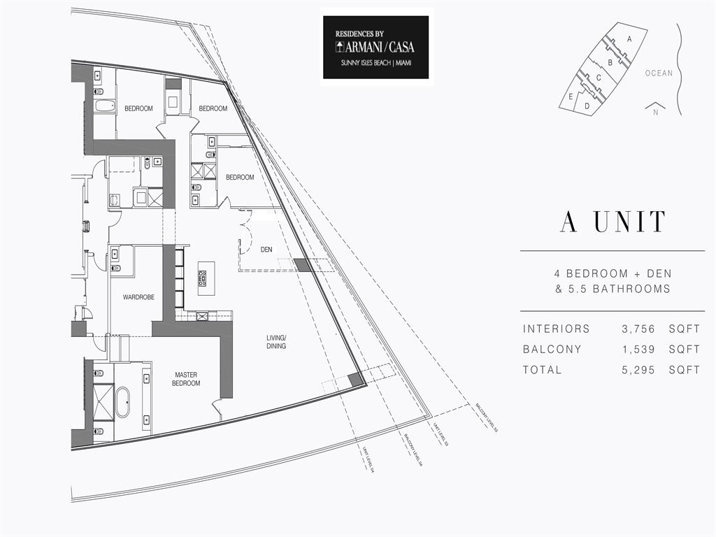 Armani Residences - Unit #A - Level 54 with 3756 SF