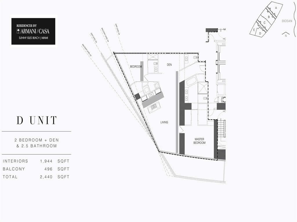 Armani Residences - Unit #D - Level 28 with 1944 SF