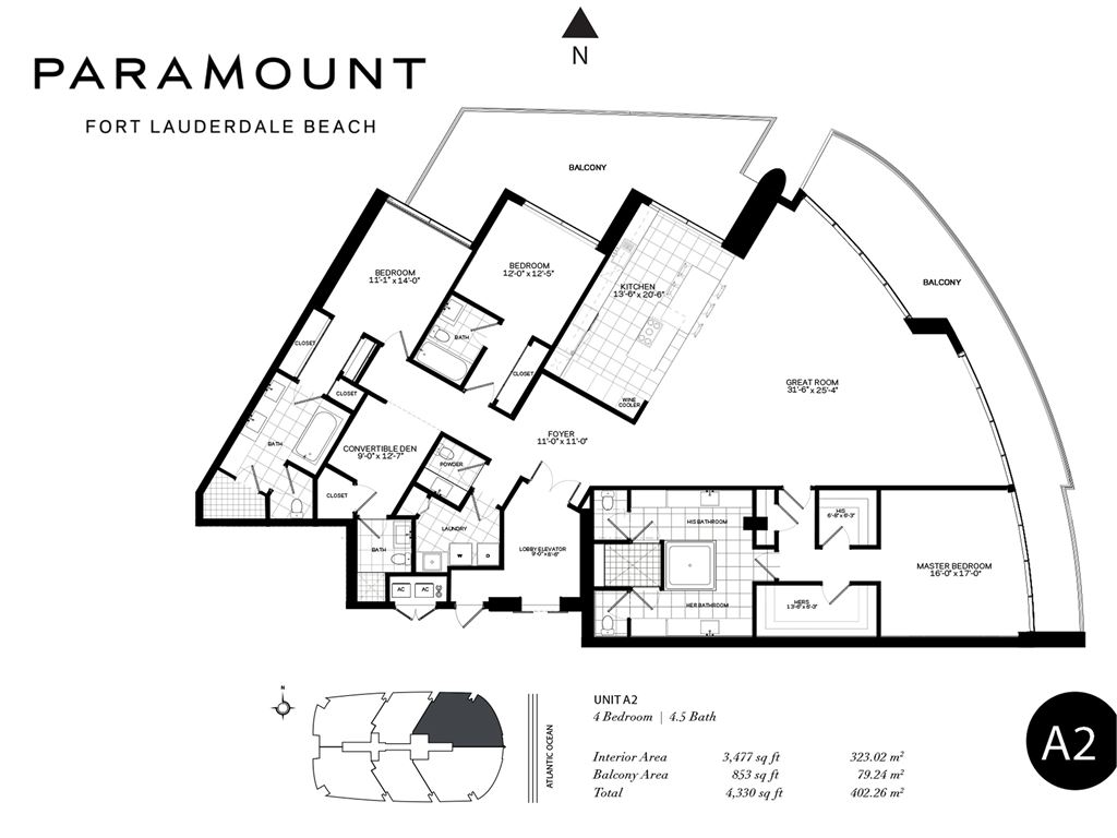 Paramount Fort Lauderdale Beach - Unit #A1-A2 with 4330 SF