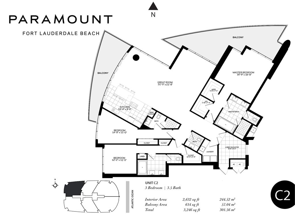 Paramount Fort Lauderdale Beach - Unit #C1-C2 with 3246 SF