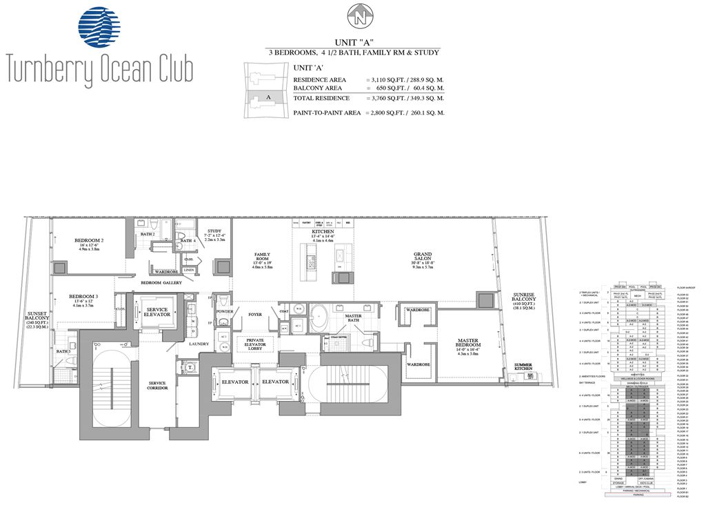 Turnberry Ocean Club - Unit #02-A with 3110 SF