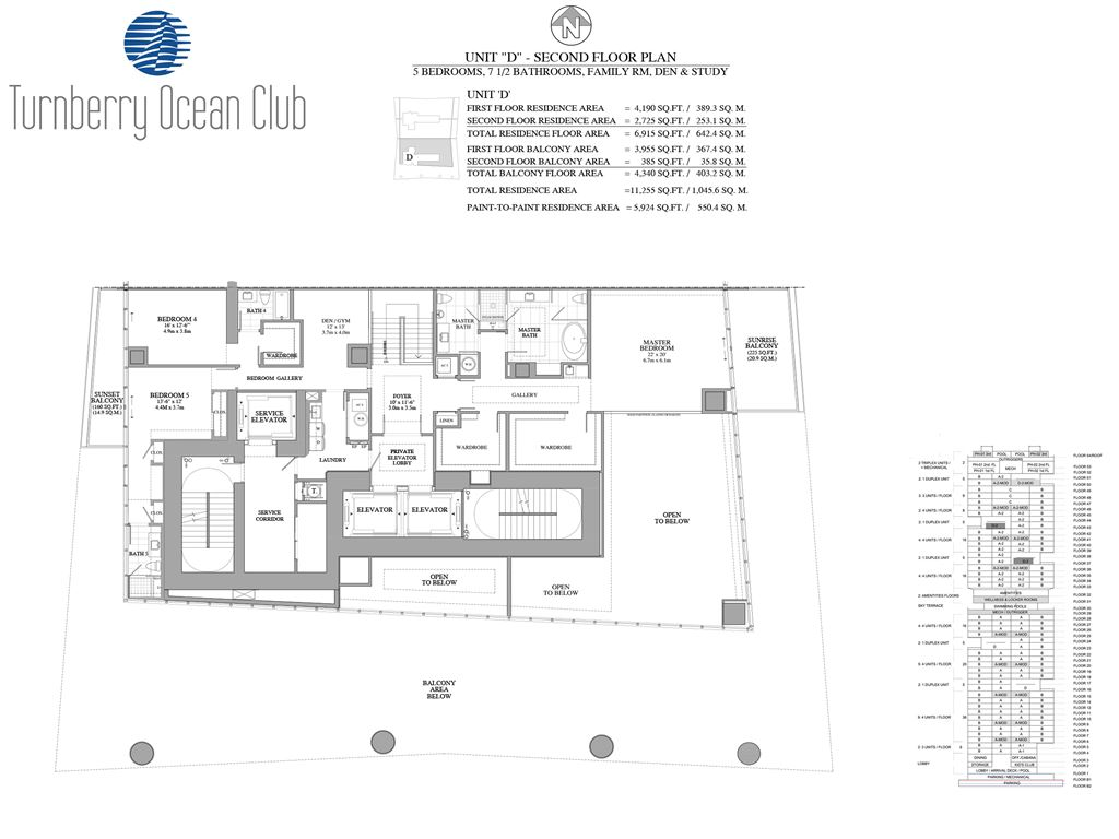 Turnberry Ocean Club - Unit #D -2nd Floor of D with 2725 SF