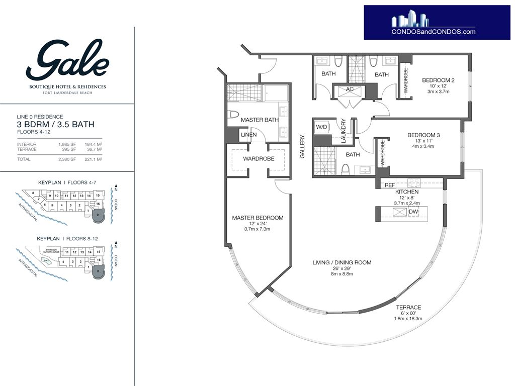 Gale Condo Residences - Unit #0 Floors 4-12 with 2380 SF