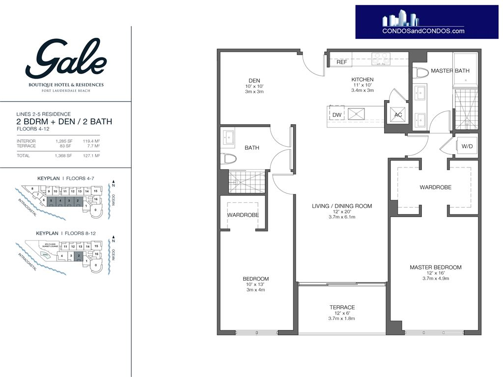 Gale Condo Residences - Unit #2-5 Floors 4-12 with 1368 SF
