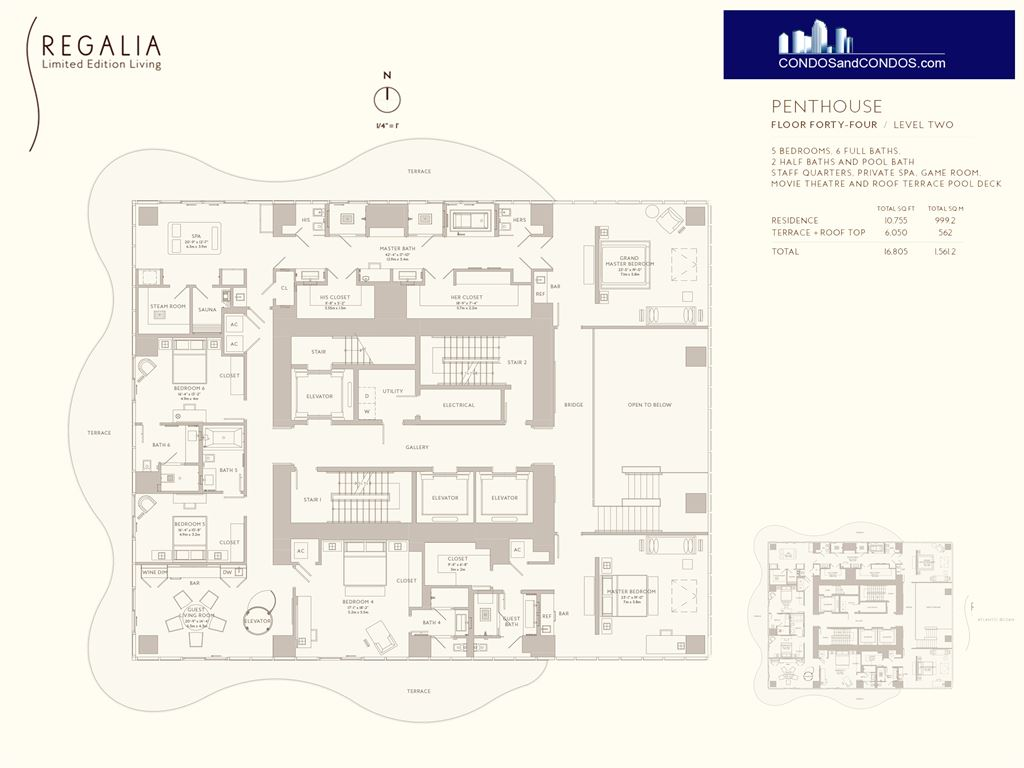 Regalia - Unit #Penthouse - Floor Forty-Four/ Level Two with 10755 SF