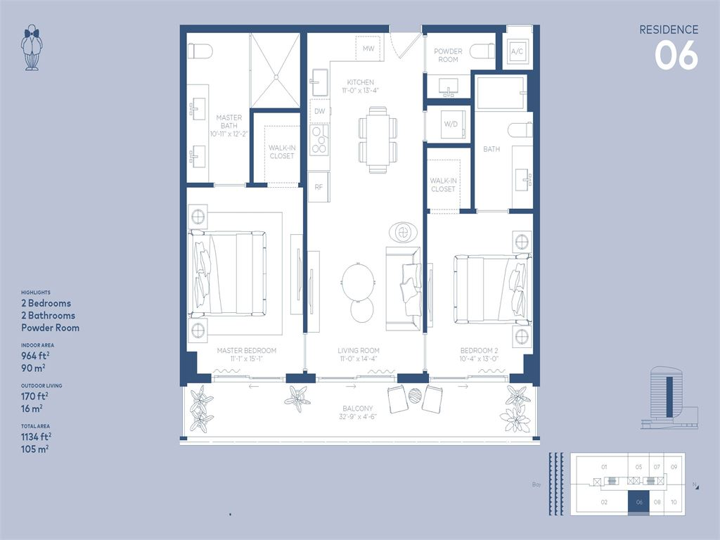 Mr. C Residences - Unit #06 with 964 SF