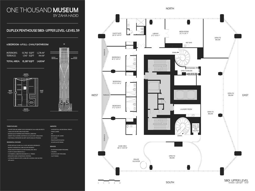 1000 Museum - Unit #Half Floor_Zone 3_Level 34-49 with 4822 SF