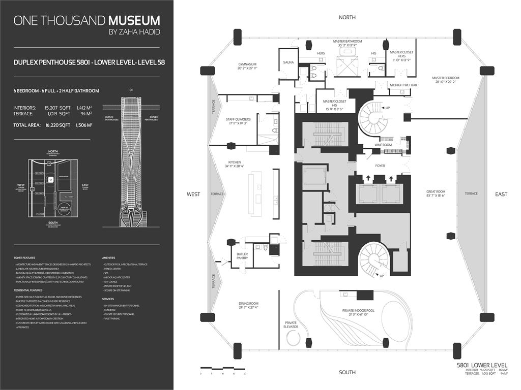 1000 Museum - Unit #Half Floor_Zone 1_Level 15-25 with 4601 SF